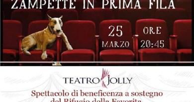 Attori, cabarettisti e cantanti uniti per il Rifugio del cane abbandonato della Favorita con lo spettacolo Zampette in prima fila, domenica 25 marzo al Teatro Jolly di Palermo
