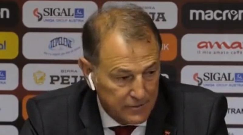 Dopo la partita tra Palermo e Cittadella sembra in bilico la panchina di Tedino, anche se Gianni De Biasi, presente in tribuna, rassicura l'allenatore rosanero