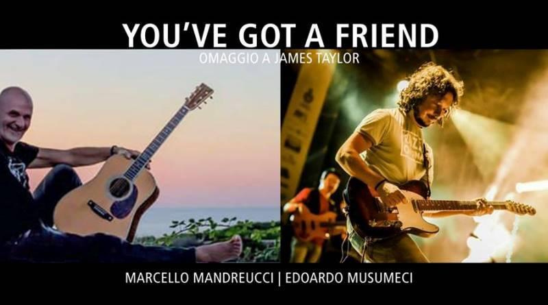 Palermo, omaggio di Mandreucci e Musumeci a James Taylor