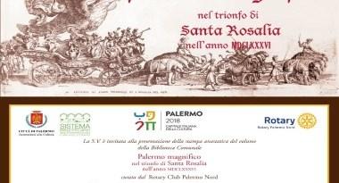 Rotary Club Palermo Nord, oggi la presentazione della stampa anastatica di un raro volume sul festino