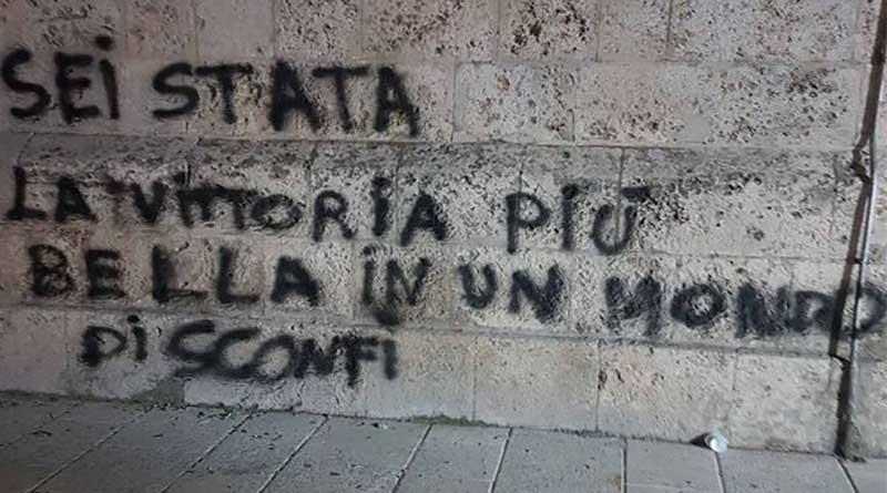 Messina, denunciato per un messaggio d'amore scritto sul Campanile
