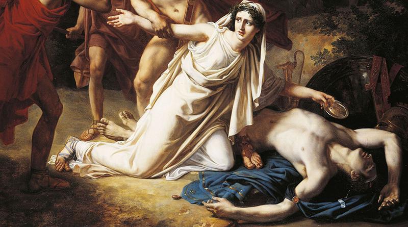 Antigone dà sepoltura a Polinice, di Sebastien Norblin (Paris, École nationale supérieure des Beaux-Arts)