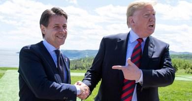 Giuseppe Conte e Donald Trump al G7 2018