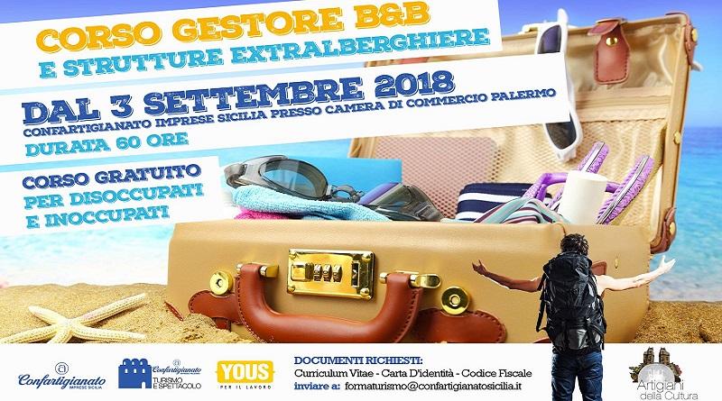 Prenderà il via il prossimo 3 settembre il primo corso di formazione organizzato da Confartigianato Imprese Sicilia con Yous Milano in Gestori di B&B e strutture extralberghiere