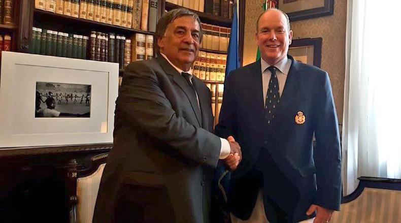 Leoluca Orlando e Alberto di Monaco