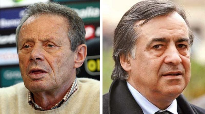 Maurizio Zamparini e Leoluca Orlando