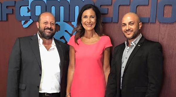 Da sinistra: il direttore Enzo Costa, la presidente di Confcommercio Palermo Patrizia Di Dio e il presidente Daniele Ruisi.