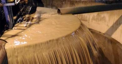 acqua torbida nel potabilizzatore