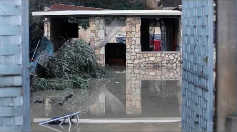 Villetta dove hanno trovato la morte 9 persone per l'acqua del fiume Milicia che in pochi istanti è giunta sino al tetto