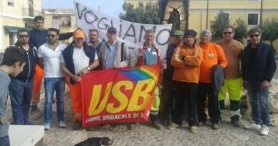 Manifestazione: Operatori ecologici Lampedusa in sciopero