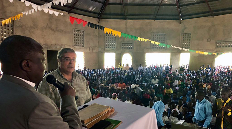 Totò Cuffaro inaugura chiesa cattolica in Burundi