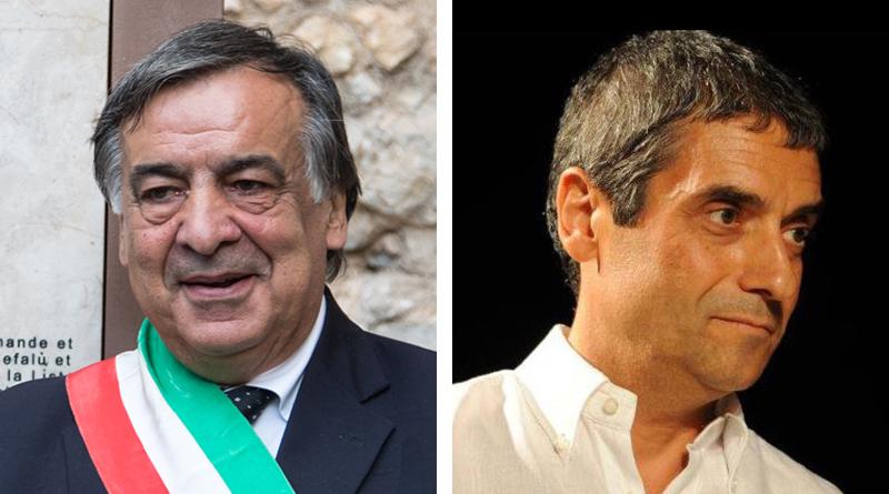 Leoluca Orlando e Giuseppe Norata