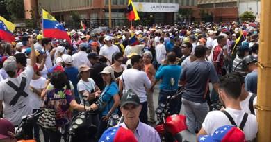 Manifestazione a Caracas, Venezuela