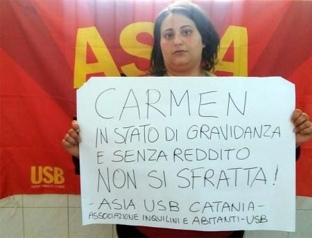 """Vertenza Casa Catania """"no sfratto senza reddito"""""""