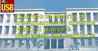 Usb solidarietà professoressa Dell'Aria