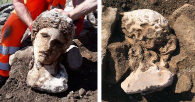 statua scavi via Alessandrina, Roma