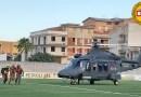 Riserva dello Zingaro, intervento con elicottero dell'Aeronautica militare a Cala Marinella