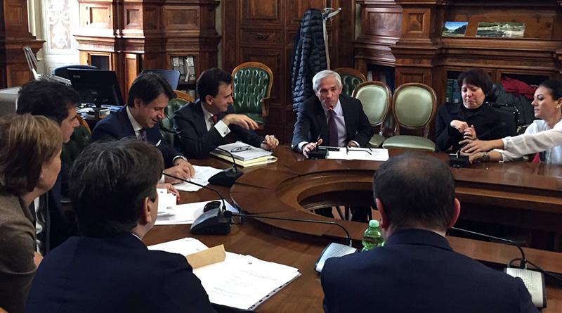 Intervento di Aldo Penna durante l'incontro tra il Presidente del Consiglio Giuseppe Conte e l'intergruppo parlamentare sulle disabilità