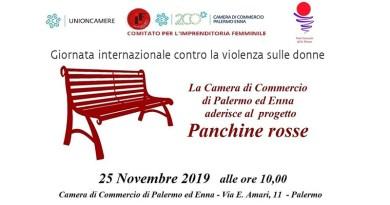 Unioncamere Panchine Rosse contro la violenza sulle donne