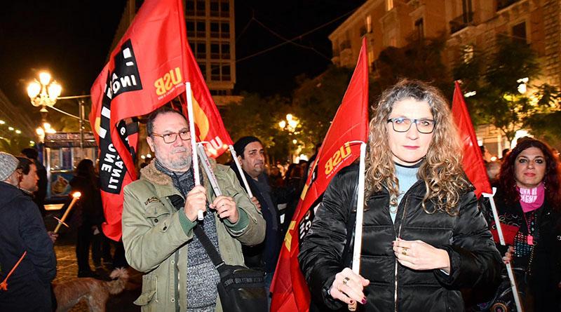 Manifestazione senza dimora a Catania