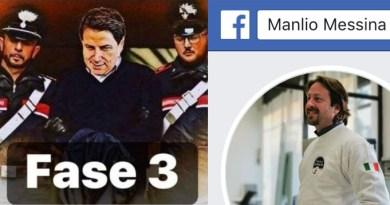 Manlio Messina post su Giuseppe Conte