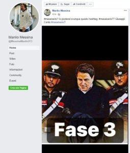 Manlio Messina e l'arresto di Giuseppe Conte