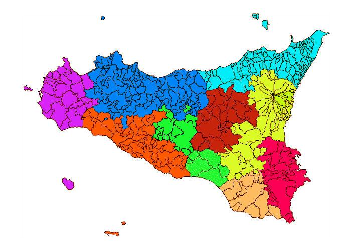 Cartina Sicilia Con Tutti I Comuni.Sicilia Comuni E Province Il Gazzettino Di Sicilia