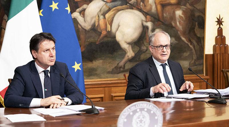 Giuseppe Conte e Roberto Gualtieri