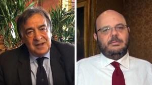 Leoluca Orlando e Giuseppe Mattina