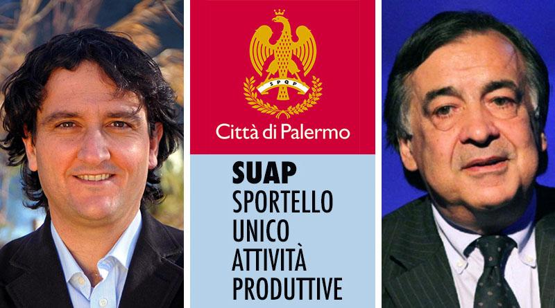Leopoldo Piampiano e Leoluca Orlando Suap