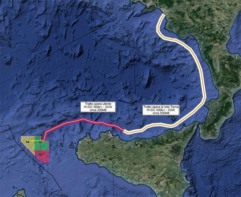 Impianto eolico Canale di Sicilia