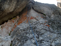 Roadside rock - Back slide (5.10a)