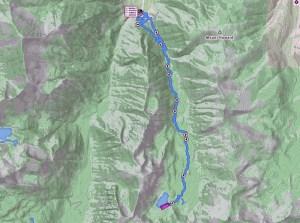 Map Aneroid lake
