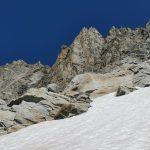 Profilo della p.ta nord 3435 e la caratteristica torre rossa