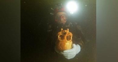 I resti della donna nella cava di Chan Hol