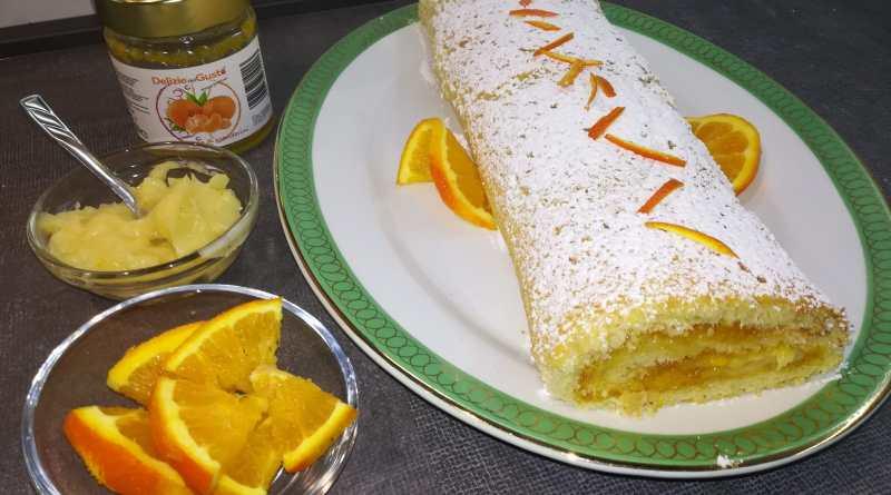 Rotolo di marmellata di mandarini