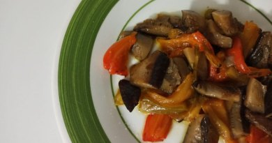Funghi e peperoni