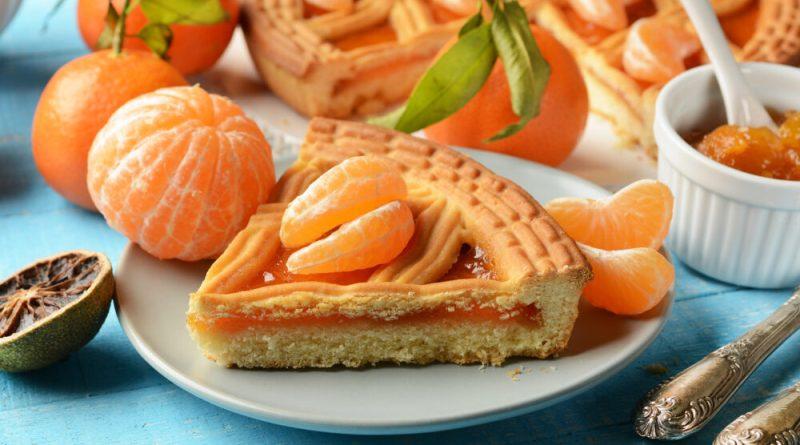 Crostata con farina di quinoa ricotta e marmellata di mandarini