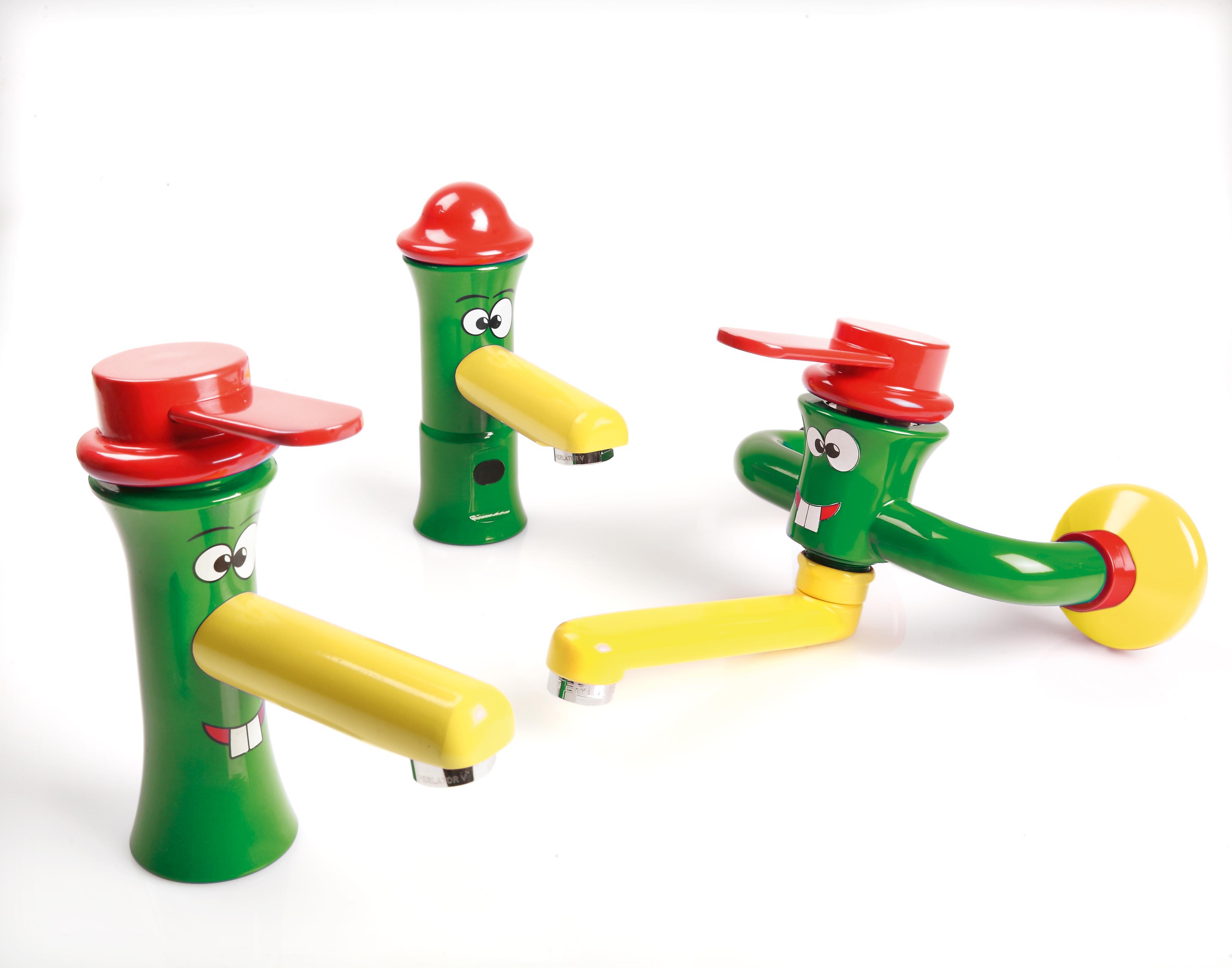 Linea di rubinetti accessori colorati e sanitari per for Accessori per neonati