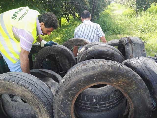 Recuperati pneumatici su Caivano e risparmiati nuovi roghi tossici