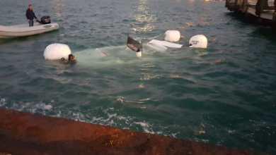 Photo of Barca affonda nel porto di Casamicciola