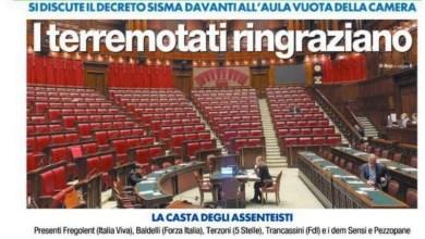 Photo of Schiaffo ai terremotati, Montecitorio snobba il Decreto Sisma