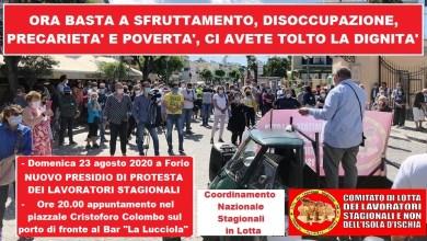 Photo of LA PROTESTA Stasera gli stagionali tornano in piazza