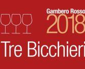 """I Tre Bicchieri della Puglia per la Guida """"Vini d'Italia 2018"""" del Gambero Rosso"""