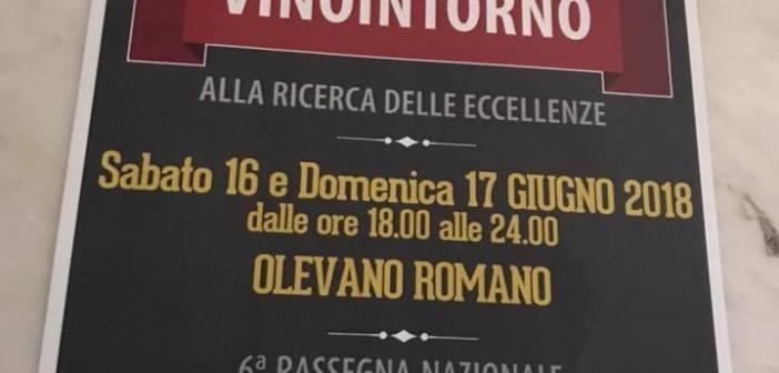Mancano solo 4 giorni a Vinointorno 2018 a Olevano Romano e le aziende aumentano siamo a 139 aziende di vino e circa 30 di cibo, ecco l'elenco quasi definitivo delle aziende