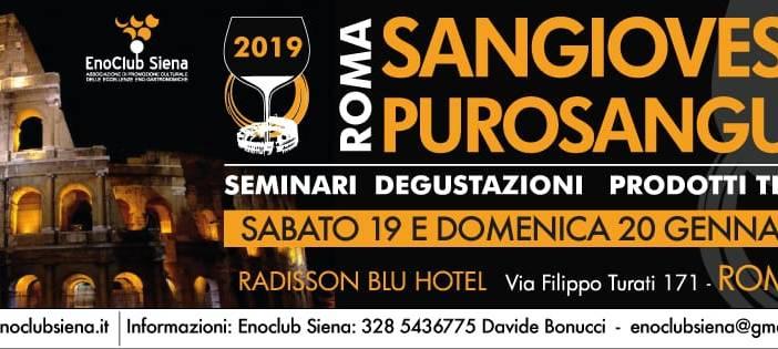 Torna Sangiovese Purosangue a Roma organizzato dall'Enoclub Siena di Davide Bonucci