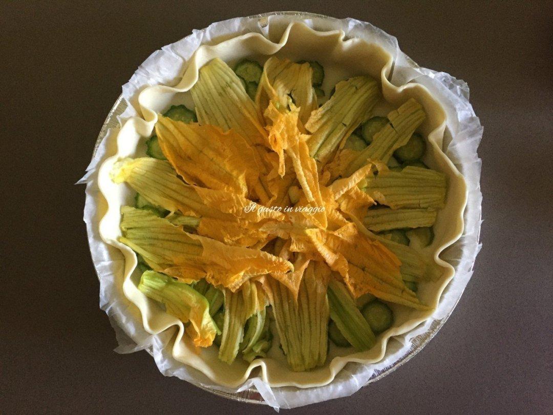 torta rustica fiori di zucca torta salata zucchine e fiori di zucca