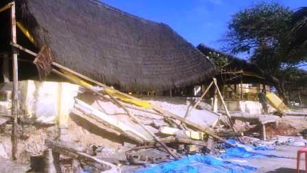 "Ilhéus: Avanço do mar destrói ""Cabana Barraca Guarani"" na Orla Sul 8"