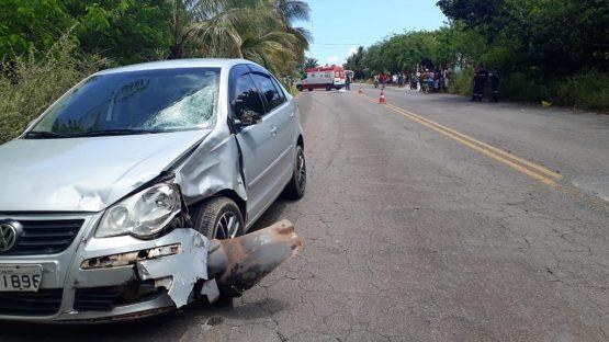 Mulher de 38 anos morre após o carro que ela dirigia bater com outro veículo na Ilhéus-Una 1