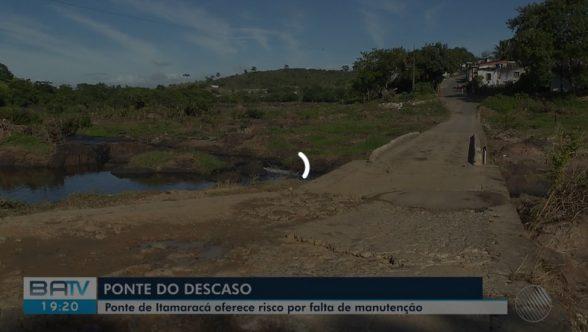Em mau estado de conservação, ponte que liga bairros de Itabuna preocupa moradores 1